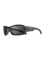 Julbo Polarized Romy Full-Rim Rectangle Blue Sunglasses for Kids, with Blue Light Filter, Black Lens, 8-12 Years, JBF-ROOKIEJ4209212, 57/17/120