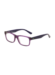 Lacoste Full-Rim Square Purple Computer Glasses for Kids, with Blue Light Filter, Clear Lens, 8-13 Years, LA-L3612-514-46-BC, 46/15/130