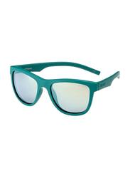 Polaroid Full Rim Square Green Sunglasses for Boys, Grey/Yellow Lens, PLD-8018/S-VWA47LM, 47/17/124