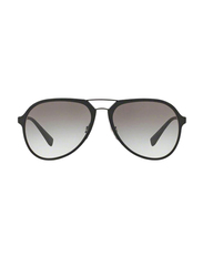 Prada Linea Rossa Full Rim Aviator Black Sunglasses Unisex, Grey Lens, PS-05RS-DG00A7, 58/17/135