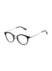 Tom Ford Full Rim Round Black/Gold Frame Unisex, FT-5444-D00149, 49/21/145
