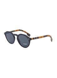 Burberry Full Rim Round Black Sunglasses for Women, Grey Lens, BU-4280-375787, 48/22/145