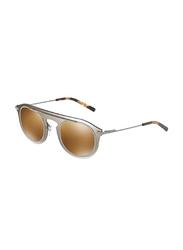 Dolce & Gabbana Full Rim Aviator Smoke Grey Sunglasses for Men, Pale Gold Mirrored Lens, DG2169-04/6H, 48/26/145