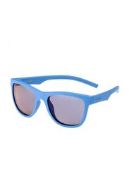 Polaroid Full Rim Square Blue Sunglasses for Boys, Blue Mirrored Lens, PLD-8018/S-ZDI47JY, 47/17/124