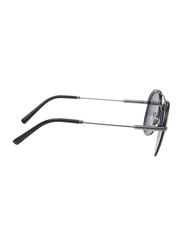Bvlgari Polarized Full Rim Aviator Black Sunglasses for Men, Black Lens, BV5044-195/81, 60/14/145