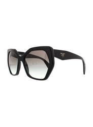 Prada Full Rim Butterfly Black Sunglasses for Women, Grey Gradient Lens, PA-16RS-1AB0A7, 56/19/135