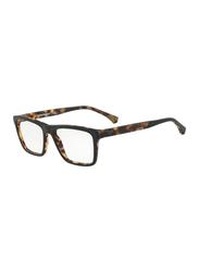 Emporio Armani Full Rim Square Black/Tortoise Frame for Men, EM-3138-5701, 55/18/145