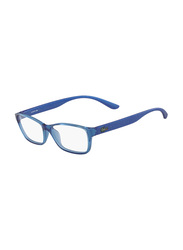 Lacoste Full-Rim Rectangle Blue Computer Glasses for Kids, with Blue Light Filter, Clear Lens, 8-13 Years, LA-L3803B-440-51-BC, 51/14/135