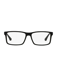 Emporio Armani Full Rim Square Black Frame for Men, EM-3038-5063, 54/16/140