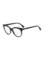 Fendi Full Rim Round Havana Frame for Women, FN-0254-0865317, 53/17/140