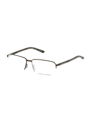Porsche Design Half-Rim Rectangle Brown Frame Unisex, PD-8316D, 55/15/140