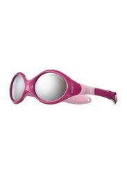 Julbo Looping 3 Full-Rim Round Pink Sunglasses for Kids, with Blue Light Filter, Grey Lens, 2-4 Years, JBF-LOOPING3J349119C, 45/15/120