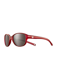 Julbo Romy Full-Rim Oval Red Sunglasses for Girls, with Blue Light Filter, Black Lens, 4-8 Years, JBF-ROMYJ5082013, 45/17/107