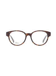 Dior Full Rim Round Havana Frame for Women, CD-LDYDIORO1-0864917, 49/17/145