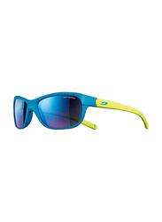 Julbo Player L Full-Rim Rectangle Dark Blue Sunglasses for Kids, with Blue Light Filter, Mirrored Blue Lens, 6-10 Years, JBF-PLAYERLJ4631132, 49/17/112