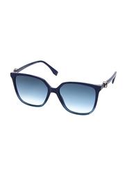 Fendi Full Rim Square Blue Sunglasses for Women, Blue Gradient Lens, FN-0318/S-PJP5708, 57/17/145
