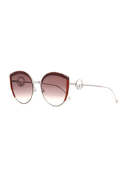 Fendi Full Rim Cat Eye Brown Sunglasses for Women, Brown Lens, FN-0290/S-LHF58HA, 58/21/140