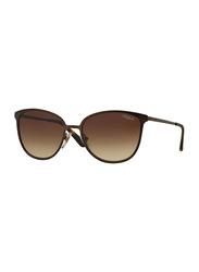 Vogue Full Rim Cat Eye Purple Sunglasses for Women, Brown Lens, VO4002S-934S13, 55/18/135