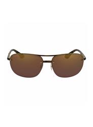 Ray-Ban Half-Rim Rectangle Tortoise Brown Sunglasses Unisex, Purple Mirrored Lens, RB4275CH-710/6B, 63/15/143