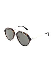 Carrera Full Rim Round Brown Sunglasses for Men, Grey Lens, CA-CARERA125-SCT54QT, 54/17/145