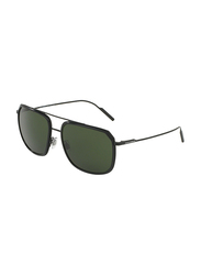 Dolce & Gabbana Full Rim Square Black Sunglasses for Men, Black Lens, DG2165-110671, 58/17/140