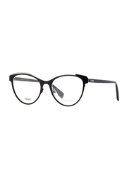 Fendi Full Rim Cat Eye Black Frame for Women, FN-0278-8075318, 53/18/145