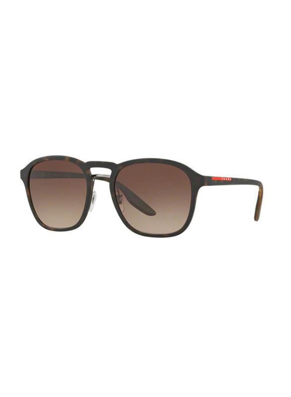 Prada Linea Rossa Full Rim Square Brown Sunglasses for Men, Brown Lens, PS-02SS-U616S1, 57/17/145