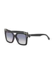 Fendi Full Rim Square Black Sunglasses for Women, Blue Gradient Lens, FN-0260/S-8075208, 52/19/145