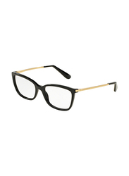 Dolce & Gabbana Full Rim Square Black Frame for Women, DG3243-501, 52/19/140