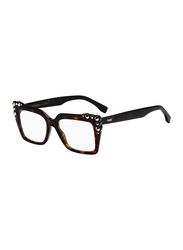 Fendi Full Rim Square Havana Frame for Women, FN-0262-0865117, 51/17/145