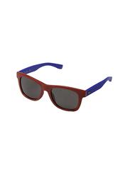 Lacoste Full Rim Square Red Sunglasses for Kids, Grey Lens, LA-L3617S-615, 48/17/130