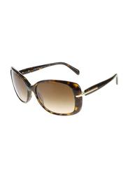 Prada Full Rim Square Tortoise Sunglasses for Women, Brown Gradient Lens, PA-08OS-2AU6S1, 57/17/130
