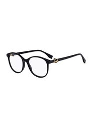 Fendi Full Rim Round Black Frame for Women, FN-0299-8075118, 51/18/140