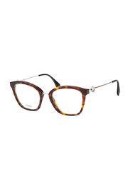 Fendi Full Rim Cat Eye Havana Frame for Women, FN-0334-0865121, 51/21/140