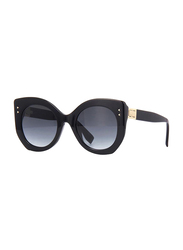 Fendi Full Rim Butterfly Black Sunglasses for Women, Grey Gradient Lens, FN-0265/S-807529O, 52/23/140
