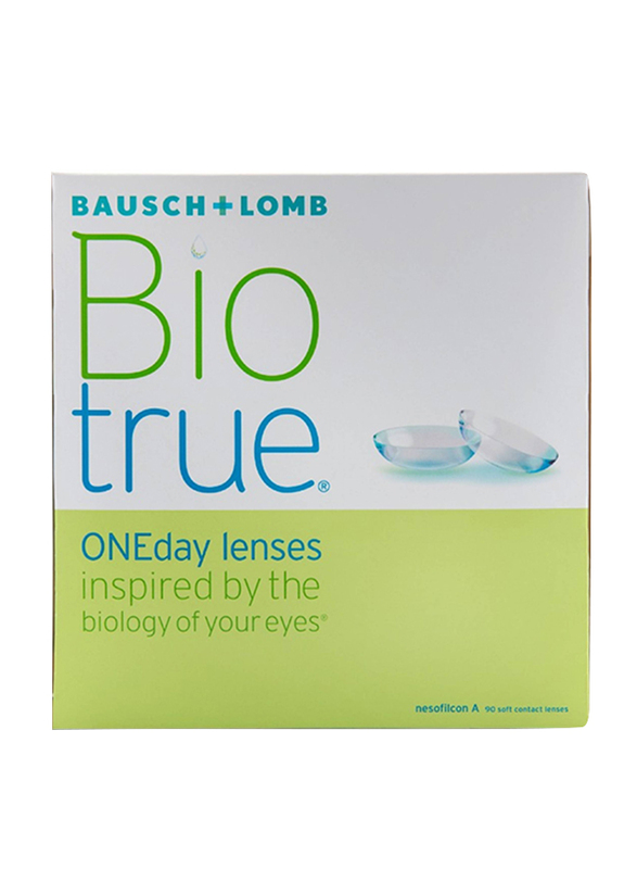 Bausch & Lomb BioTrue 1-Day Pack of 90 Contact Lenses, Natural, -1.25