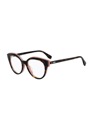 Fendi Full Rim Cat Eye Tortoise Pink Frame for Women, FN-0280-0865118, 51/18/140