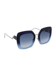 Fendi Full Rim Square Blue Sunglasses for Women, Blue Gradient Lens, FN-0317/S-ZX95308, 53/23/140