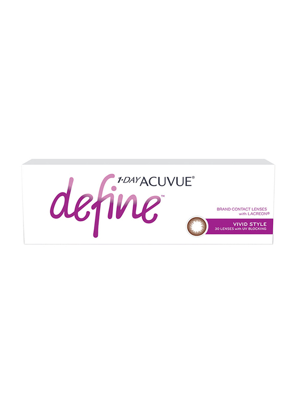 Acuvue Define Vivid Style 1-Day Pack of 30 Contact Lenses, Natural, 0