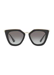 Prada Full Rim Cat Eye Black Sunglasses for Women, Grey Lens, PA-53SS-1AB0A7, 52/21/140