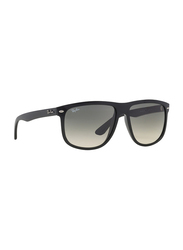 Ray-Ban Full Rim Rectangle Black Sunglasses for Men, Black Gradient Lens, RB4147-601/32, 56/15/145