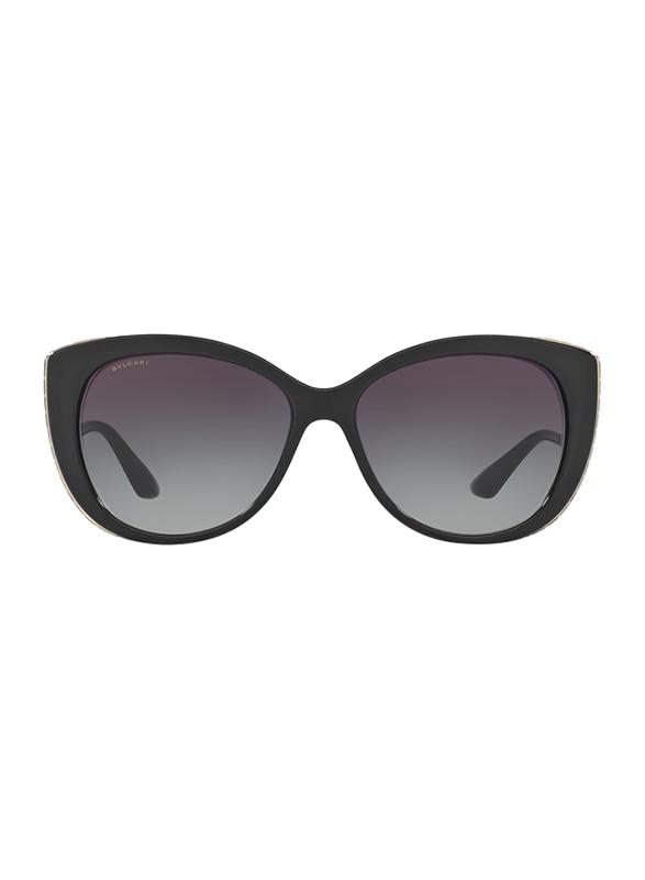 Bvlgari Full Rim Cat Eye Black Sunglasses for Women, Black/Gold Lens, BV8178-901/8G, 57/15/135