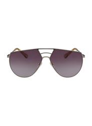 Chloe Full Rim Round Silver Sunglasses for Women, Pink Lens, CL-CE139S-804, 62/13/140