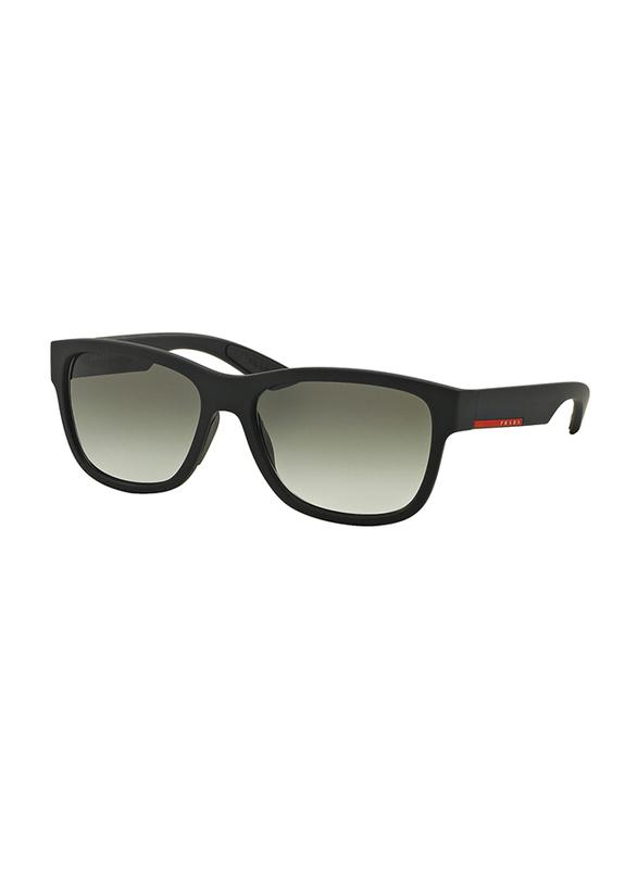 Prada Linea Rossa Full Rim Square Black Sunglasses for Men, Grey Lens, PS-03QS-DG00A7, 57/17/145