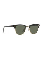 Ray-Ban Full Rim Clubmaster Black Sunglasses Unisex, Black Lens, RB3016-W0365, 49/21/140
