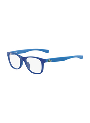 Lacoste Full-Rim Square Green Computer Glasses for Kids, with Blue Light Filter, Clear Lens, 8-13 Years, LA-L3620-467-48-BC, 48/16/130