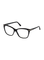 Tom Ford Full Rim Square Black Frame for Women, FT-551200154, 54/14/140