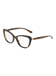 Dolce & Gabbana Full Rim Cat Eye Havana Frame for Women, DG5039-502, 54/17/140