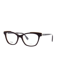 Fendi Full Rim Cat Eye Purple Frame for Women, FN-0256-B3V5217, 52/17/140