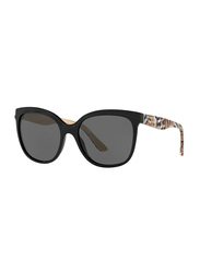 Burberry Full Rim Butterfly Black Sunglasses for Women, Grey Lens, BU-4270-372887, 55/18/140